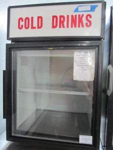 Glass Door Countertop Refrigerator